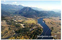 The City of Clark Fork Idaho on the Clark Fork River