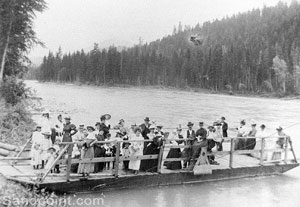 Before the was a bridge there was the Clark Fork Ferry